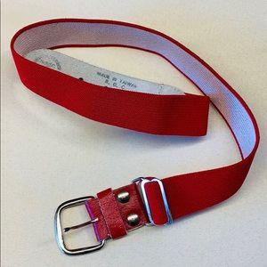 Accessories - Red Spandex Belt | Stretch Adjustable Taiwan Belt
